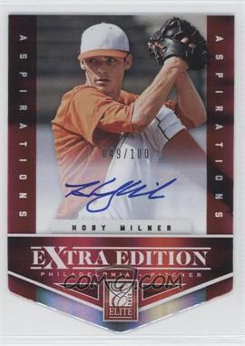 2012 Elite Extra Edition - [Base] - Aspirations Die-Cut Signatures [Autographed] #197 - Hoby Milner /100