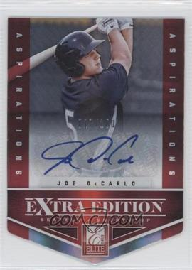 2012 Elite Extra Edition - [Base] - Aspirations Die-Cut Signatures [Autographed] #24 - Joe DeCarlo /100