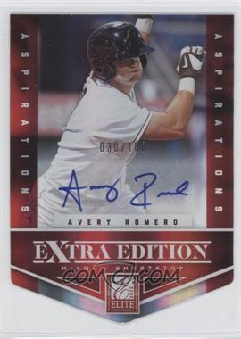 2012 Elite Extra Edition - [Base] - Aspirations Die-Cut Signatures [Autographed] #32 - Avery Romero /100