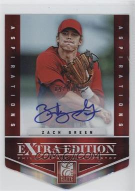 2012 Elite Extra Edition - [Base] - Aspirations Die-Cut Signatures [Autographed] #44 - Zach Green /100