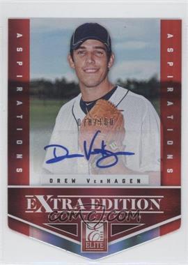 2012 Elite Extra Edition - [Base] - Aspirations Die-Cut Signatures [Autographed] #51 - Drew VerHagen /100