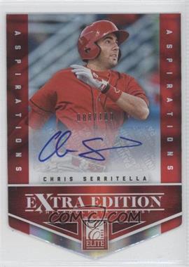 2012 Elite Extra Edition - [Base] - Aspirations Die-Cut Signatures [Autographed] #53 - Chris Serritella /100