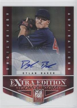 2012 Elite Extra Edition - [Base] - Aspirations Die-Cut Signatures [Autographed] #58 - Dylan Baker /100