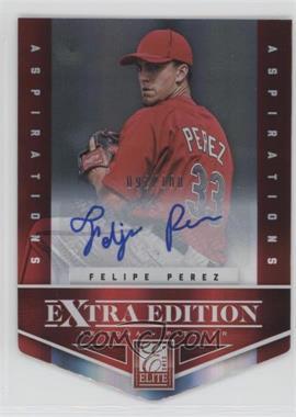 2012 Elite Extra Edition - [Base] - Aspirations Die-Cut Signatures [Autographed] #69 - Felipe Perez /100