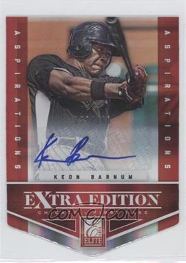 2012 Elite Extra Edition - [Base] - Aspirations Die-Cut Signatures [Autographed] #7 - Keon Barnum /100