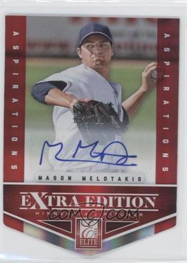 2012 Elite Extra Edition - [Base] - Aspirations Die-Cut Signatures [Autographed] #70 - Mason Melotakis /100
