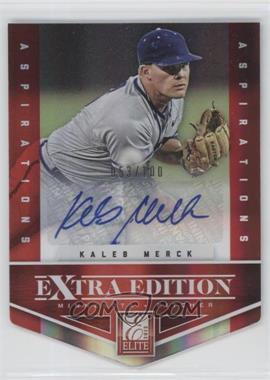 2012 Elite Extra Edition - [Base] - Aspirations Die-Cut Signatures [Autographed] #86 - Kaleb Merck /100