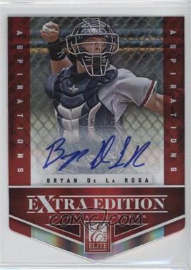 2012 Elite Extra Edition - [Base] - Aspirations Die-Cut Signatures [Autographed] #92 - Bryan De La Rosa /100