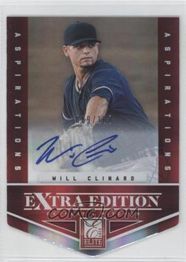2012 Elite Extra Edition - [Base] - Aspirations Die-Cut Signatures [Autographed] #95 - Will Clinard /100