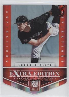 2012 Elite Extra Edition - [Base] - Aspirations Die-Cut #111 - Lucas Giolito /200