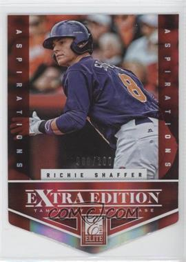 2012 Elite Extra Edition - [Base] - Aspirations Die-Cut #120 - Richie Shaffer /200