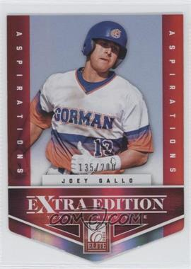 2012 Elite Extra Edition - [Base] - Aspirations Die-Cut #131 - Joey Gallo /200