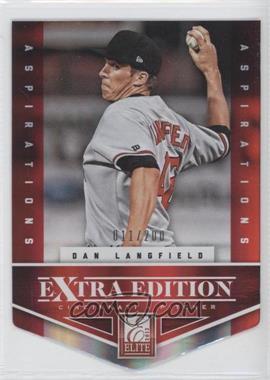 2012 Elite Extra Edition - [Base] - Aspirations Die-Cut #173 - Dan Langfield /200