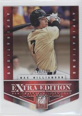 2012 Elite Extra Edition - [Base] - Aspirations Die-Cut #179 - Mac Williamson /200