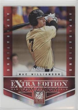 2012 Elite Extra Edition - [Base] - Aspirations Die-Cut #179 - Mac Williamson /200