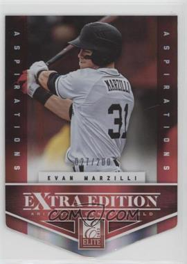 2012 Elite Extra Edition - [Base] - Aspirations Die-Cut #189 - Evan Marzilli /200