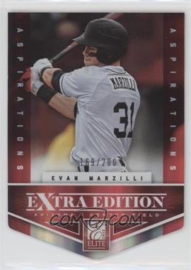 2012 Elite Extra Edition - [Base] - Aspirations Die-Cut #189 - Evan Marzilli /200