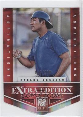 2012 Elite Extra Edition - [Base] - Aspirations Die-Cut #190 - Carlos Escobar /200
