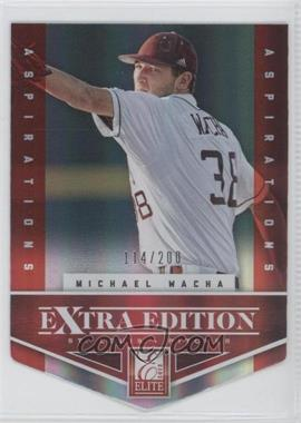 2012 Elite Extra Edition - [Base] - Aspirations Die-Cut #4 - Michael Wacha /200
