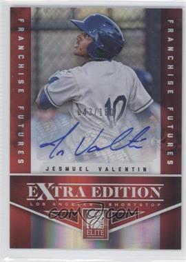 2012 Elite Extra Edition - [Base] - Franchise Futures Signatures [Autographed] #17 - Jesmuel Valentin /180