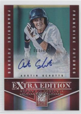 2012 Elite Extra Edition - [Base] - Franchise Futures Signatures [Autographed] #35 - Austin Schotts /499