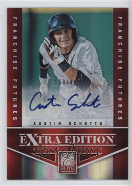 2012 Elite Extra Edition - [Base] - Franchise Futures Signatures [Autographed] #35 - Austin Schotts /499