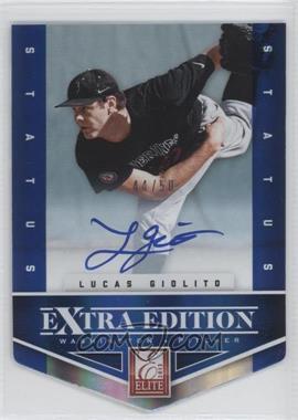 2012 Elite Extra Edition - [Base] - Status Blue Die-Cut Signatures #111 - Lucas Giolito /50