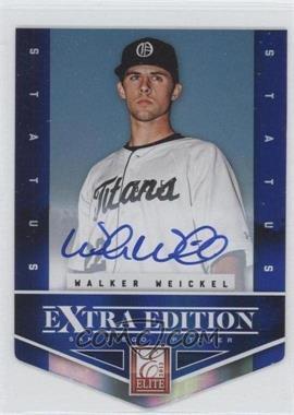 2012 Elite Extra Edition - [Base] - Status Blue Die-Cut Signatures #129 - Walker Weickel /50