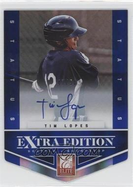 2012 Elite Extra Edition - [Base] - Status Blue Die-Cut Signatures #143 - Tim Lopes /50