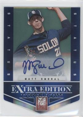 2012 Elite Extra Edition - [Base] - Status Blue Die-Cut Signatures #16 - Matt Smoral /50
