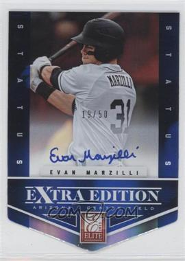 2012 Elite Extra Edition - [Base] - Status Blue Die-Cut Signatures #189 - Evan Marzilli /50