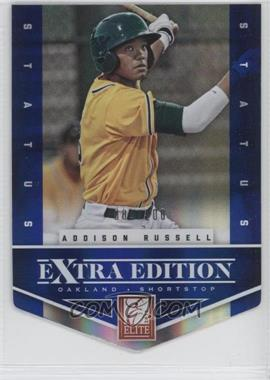 2012 Elite Extra Edition - [Base] - Status Blue Die-Cut #1 - Addison Russell /100