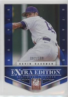 2012 Elite Extra Edition - [Base] - Status Blue Die-Cut #104 - Kevin Gausman /100