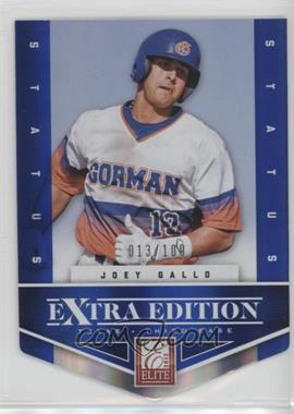 2012 Elite Extra Edition - [Base] - Status Blue Die-Cut #131 - Joey Gallo /100