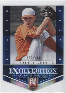 2012 Elite Extra Edition - [Base] - Status Blue Die-Cut #197 - Hoby Milner /100