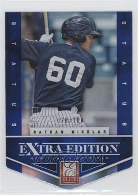 2012 Elite Extra Edition - [Base] - Status Blue Die-Cut #42 - Nathan Mikolas /100