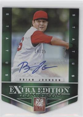 2012 Elite Extra Edition - [Base] - Status Emerald Die-Cut Signatures [Autographed] #14 - Brian Johnson /25