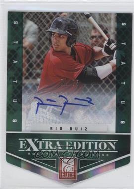 2012 Elite Extra Edition - [Base] - Status Emerald Die-Cut Signatures [Autographed] #77 - Rio Ruiz /25