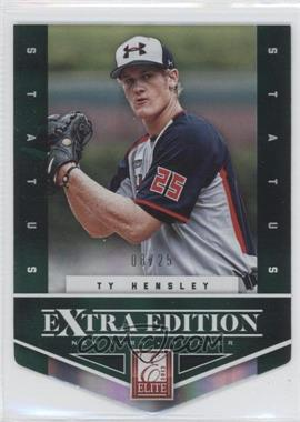 2012 Elite Extra Edition - [Base] - Status Emerald Die-Cut #127 - Ty Hensley /25