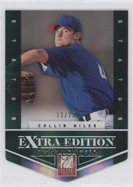 2012 Elite Extra Edition - [Base] - Status Emerald Die-Cut #147 - Collin Wiles /25