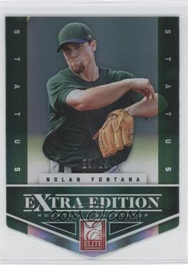 2012 Elite Extra Edition - [Base] - Status Emerald Die-Cut #22 - Nolan Fontana /25