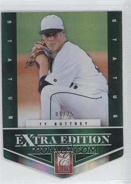 2012 Elite Extra Edition - [Base] - Status Emerald Die-Cut #49 - Ty Buttrey /25