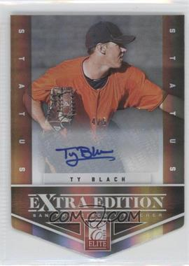 2012 Elite Extra Edition - [Base] - Status Gold Die-Cut Signatures #60 - Ty Blach /5