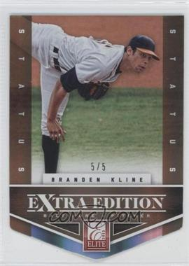 2012 Elite Extra Edition - [Base] - Status Gold Die-Cut #155 - Branden Kline /5