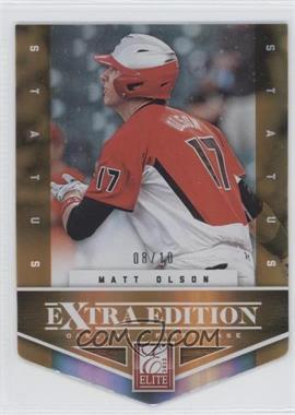2012 Elite Extra Edition - [Base] - Status Orange Die-Cut #123 - Matt Olson /10