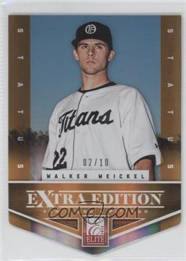2012 Elite Extra Edition - [Base] - Status Orange Die-Cut #129 - Walker Weickel /10
