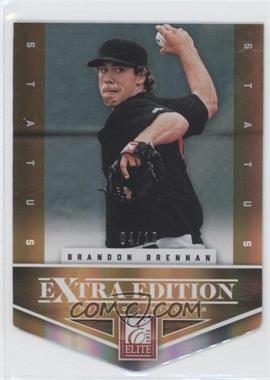 2012 Elite Extra Edition - [Base] - Status Orange Die-Cut #176 - Brandon Brennan /10