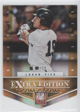 2012 Elite Extra Edition - [Base] - Status Orange Die-Cut #185 - Logan Vick /10