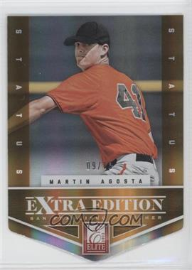 2012 Elite Extra Edition - [Base] - Status Orange Die-Cut #29 - Martin Agosta /10