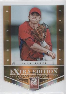 2012 Elite Extra Edition - [Base] - Status Orange Die-Cut #44 - Zach Green /10
